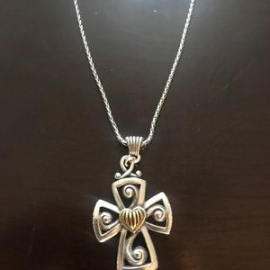 Brighton cross with heart necklace